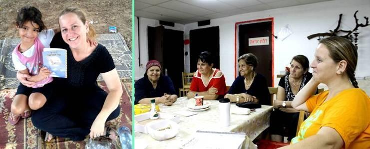 ענבר סדרס בהרצאה במועדון קשישים - העמותה לשגשוג ובטחון